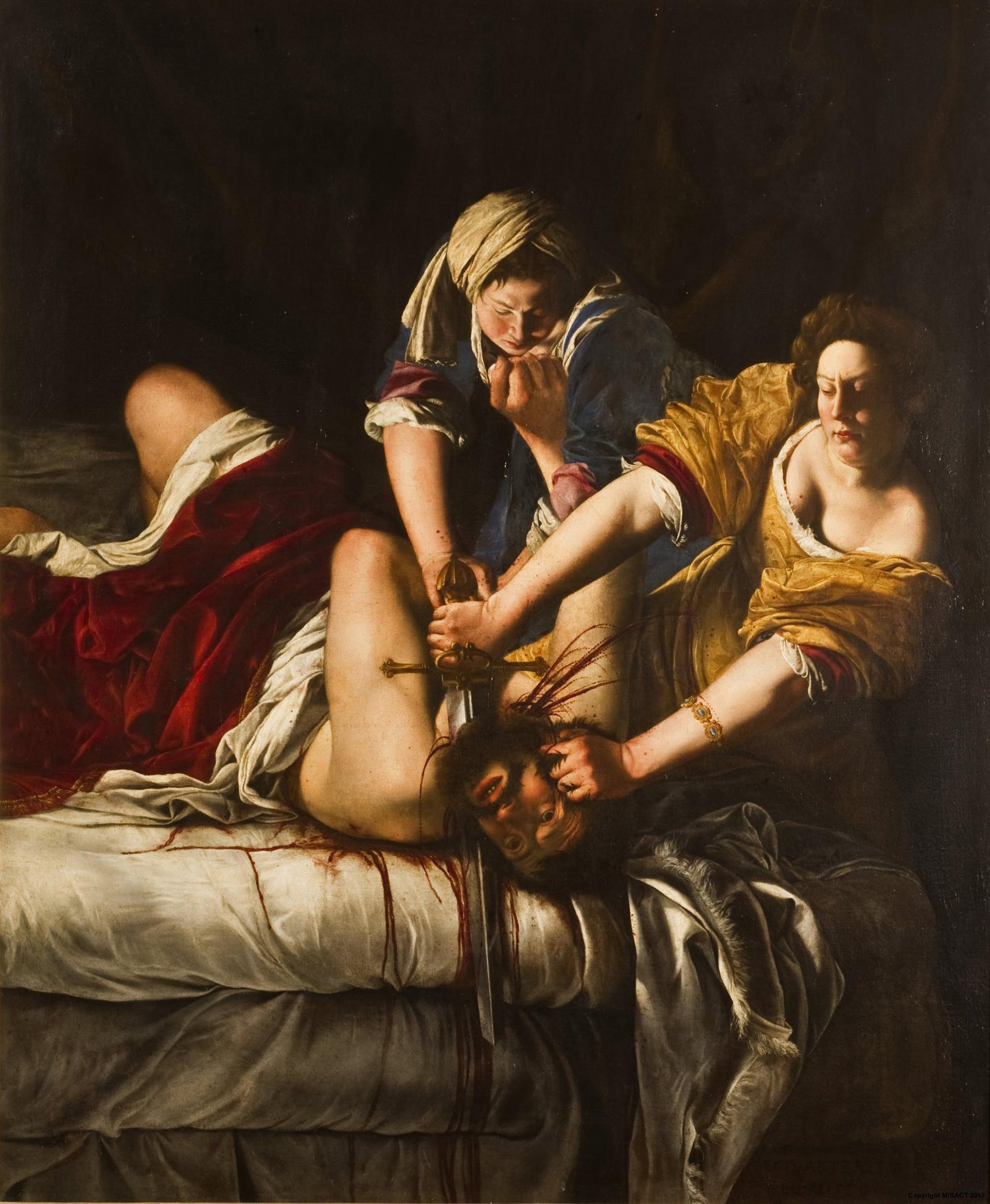 Artemisia Gentileschi, Judith Slaying Holofernes,